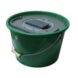 Кофа за жива стръв 25 литра кръгла + помпа