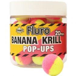 Топчета Dynamite Baits Fluro Pop-Ups Banana Krill 20мм