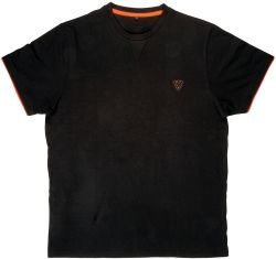 Тениска FOX Cotton T-Shirt Black/Orange