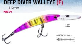 Воблер Yo Zuri Crystal Minnow DD Walleye 110мм - R1206