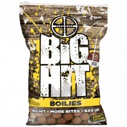 Топчета Crafty Catcher Big Hit Boilies 1кг - Крил и Чесън