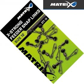 Вирбели за Фидер Matrix X-Strong Feeder Bead Snap Links