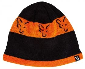 Зимна Шапка FOX Black & Orange Beanie