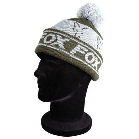 Зимна Шапка FOX Green & Silver Lined Bobble