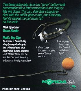 Вързани куки Korda Wide Gape Loop Ready Tied Rigs