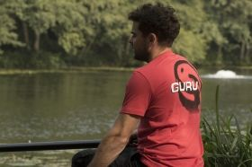Тениска GURU Brush Logo Red Tee T-Shirt