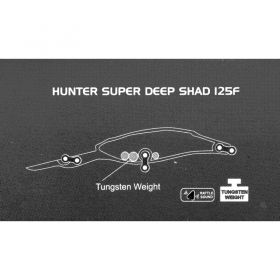 Воблер Sea Buzz Hunter Deep Shad SDR 125F