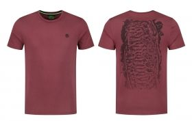 Тениска Korda LE Scaley Tee Burgandy BLK Print