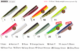 Силикони Fiiish Black Minnow No1 - 7см