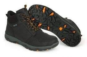 Обувки FOX COLLECTION BLACK & ORANGE MID BOOTS
