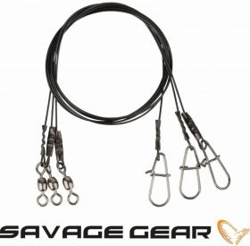 Метален повод Savage Gear Black7 Trace 20cm 0.35mm 7кг