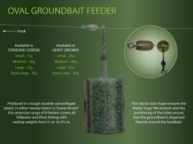 Фидер хранилки Drennan Oval Groundbait Standart Feeder